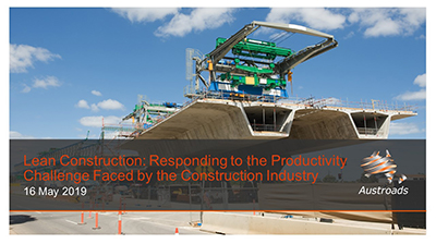 Webinar: Lean Construction: Responding to the Productivity Challenge Faced by the Construction Industry