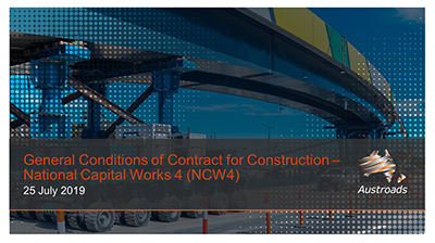Webinar: General Conditions of Contract for Construction - National Capital Works 4 (NCW4)