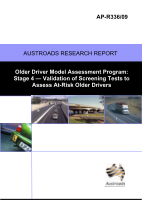 Older Driver Model Assessment Program: Stage 4 - Vaildation of Screening Tests to Assess At-Risk Older Drivers