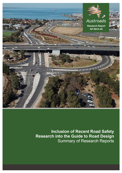 Inclusion of Recent Road Safety Research into the Guide to Road Design: Summary of Research Reports