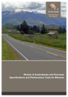 Cover of Review of Australasian and Overseas Specifications and Performance Tests for Bitumen