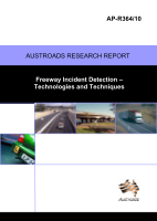 Cover of Freeway Incident Detection Technologies and Techniques