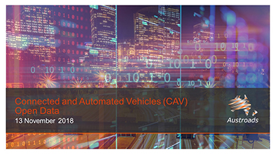 Webinar: Connected and Automated Vehicles Open Data