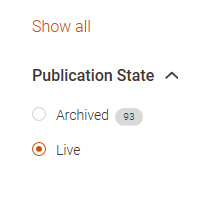 Choose Archived in the Publication state filter