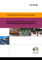 Cover of Review of AS2008 from an Emulsion and PMB Manufacturing Perspective