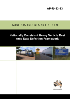 Nationally Consistent Heavy Vehicle Rest Area Data Definition Framework
