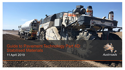 Webinar: Guide to Pavement Technology Part 4D: Stabilised Materials
