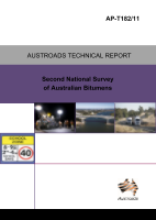 Cover of Second National Survey of Australian Bitumens