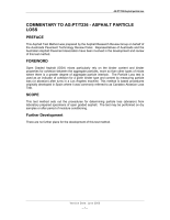 Asphalt Particle Loss