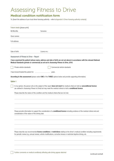 AFTD2016 Medical report form