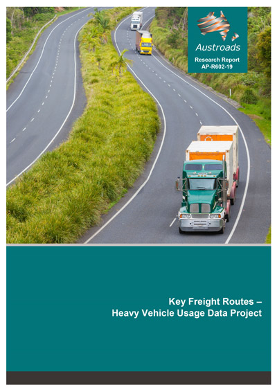 Cover of Key Freight Routes – Heavy Vehicle Usage Data Project
