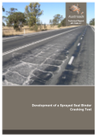 Cover of Development of a Sprayed Seal Binder Cracking Test