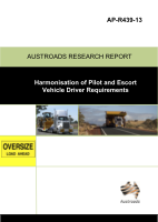 Cover of Harmonisation of Pilot and Escort Vehicle Driver Requirements