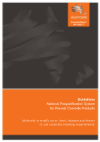 Guidelines: National Prequalification System for Precast Concrete Products