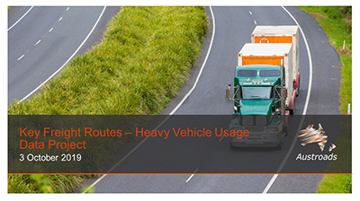 Webinar: Key Freight Routes – Heavy Vehicle Usage Data Project