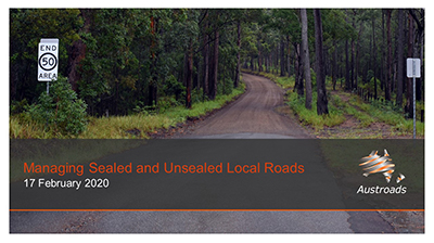 Webinar: Managing Sealed and Unsealed Local Roads