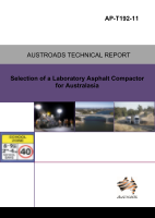 Cover of Selection of a Laboratory Asphalt Compactor for Australasia