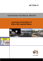 Cover of Laboratory Evaluation of Warm Mix Asphalt Mixes