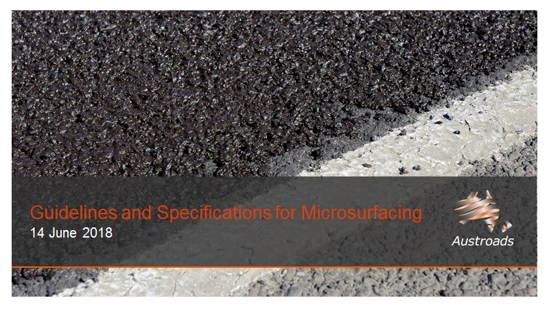 Cover of Webinar: Guidelines and Specifications for Microsurfacing
