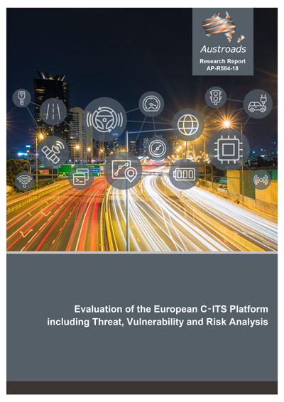 Cover of Evaluation of the European C‑ITS Platform including Threat, Vulnerability and Risk Analysis