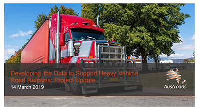 Webinar: Developing the Data to Support Heavy Vehicle Road Reforms