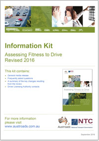 Cover of 2016 Assessing Fitness to Drive Information Kit