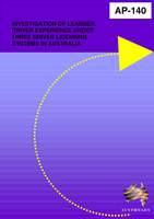 Cover of Investigation of Learner Driver Experience Under Three Driver Licensing Systems in Australia