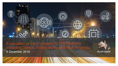Webinar: Evaluation of the European C-ITS Platform including Threat, Vulnerability and Risk Analysis