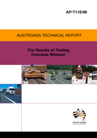 The Results of Testing Overseas Bitumen