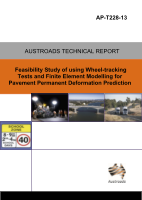 Cover of Feasibility Study of Using Wheel-tracking Tests and Finite Element Modelling for Pavement Deformation Prediction