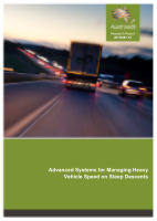 Cover of Advanced Systems for Managing Heavy Vehicle Speed on Steep Descents