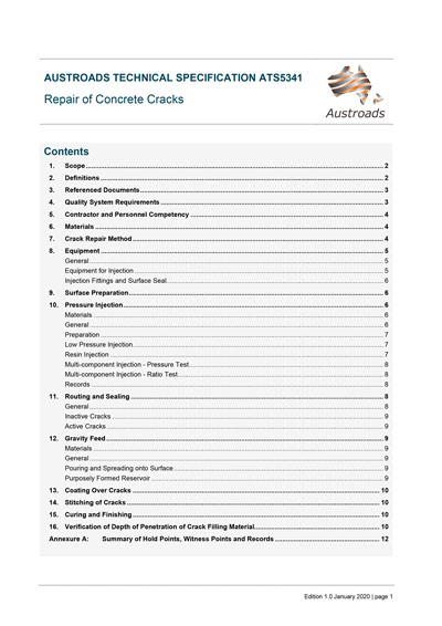 Cover of Repair of Concrete Cracks