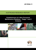 Cover of Establishment of a New Pavement Maintenance Database - Stage 1 and 2 Analysis