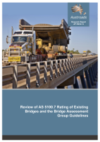 Cover of Review of AS 5100.7 Rating of Existing Bridges and the Bridge Assessment Group Guidelines