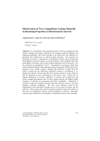 Cover of Effectiveness of Two Cementitious Coating Materials in Restoring Properties of Deteriorated Concrete