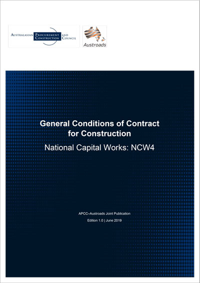 Cover of General Conditions of Contract for Construction - National Capital Works 4 (NCW4)