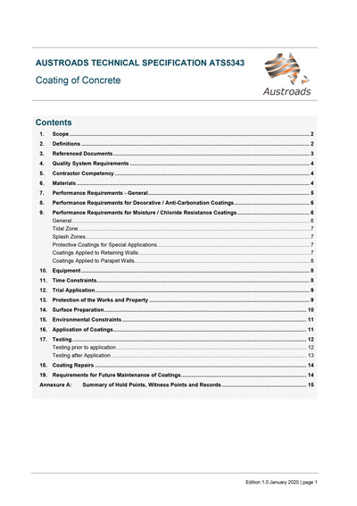 Cover of Coating of Concrete