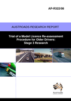 Trial of a Model Licence Re-Assessment Procedure for Older Drivers: Stage 3 Research