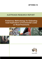 Cover of Preliminary Methodology for Estimating Cost Implications of Incremental Loads on Road Pavements