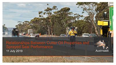 Webinar: Relationships Between Cutter Oil Properties and Sprayed Seal Performance
