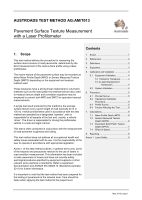 Cover of Pavement Surface Texture Measurement with a Laser Profilometer