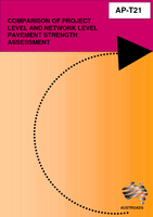 Cover of Comparison of Project Level and Network Level Pavement Strength Assessment