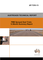 PMB Sprayed Seal Trials: 12 Month Summary Report