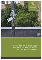 Cover of Investigation of Key Crash Types: Run-off-road and Head-on Crashes in Urban Areas: Final Report