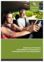 Cover of Summary of Literature of the Effective Components of Graduated Driver Licensing Systems