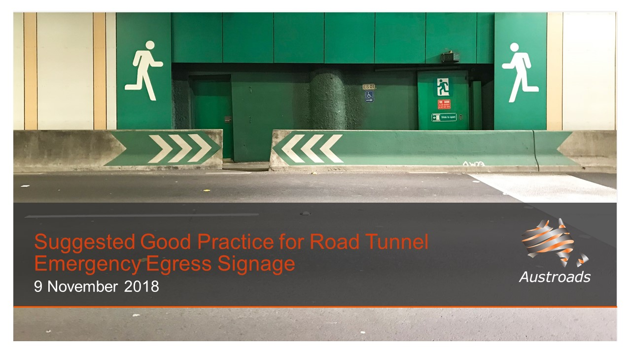 Cover of Webinar: Suggested Good Practice for Road Tunnel Emergency Egress Signage