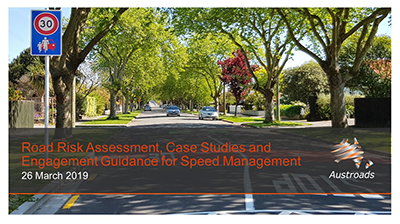 Webinar: Road Risk Assessment, Case Studies and Engagement Guidance for Speed Management