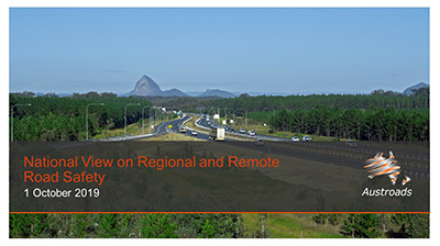 Webinar: National View on Regional and Remote Road Safety