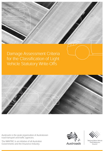 Cover of Damage Assessment Criteria for the Classification of Light Vehicle Statutory Write-Offs