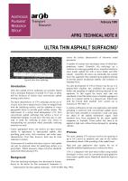 Ultra Thin Asphalt Surfacing